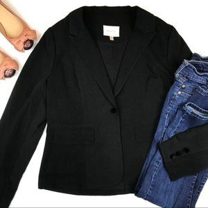 Skies are Blue Black Blazer Velvet Buttons Medium